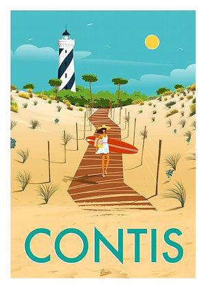 """Affiche CLAVE Illustration """"Contis"""""""