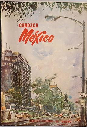 Affiche originale MEXICO 1963 Consejo de turismo