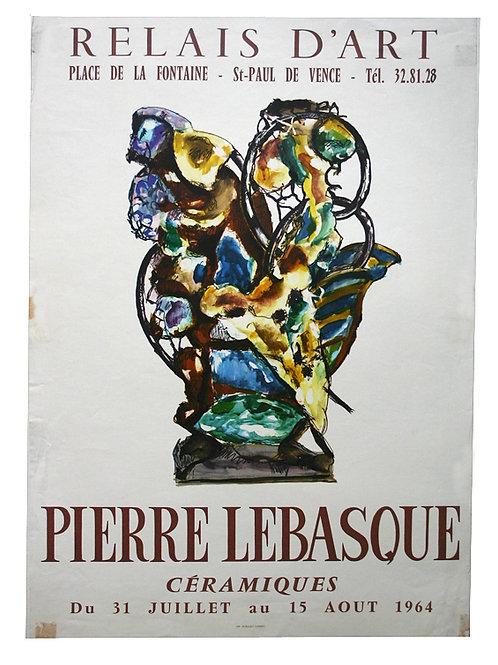 """Affiche Pierre LEBASQUE """"Céramiques"""" - 1964"""