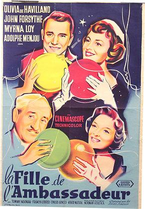 Affiche Originale - La fille de l'ambassadeur 1956