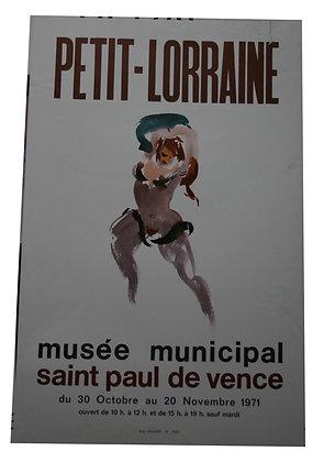 AFFICHE EXPO - PETIT LORRAINE Danseuse Nue - 1971