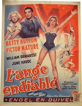 Affiche Belge L'ANGE ENDIABLEE - Betty HUTTON - 1949