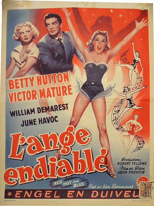 Affiche Belge L'ANGE ENDIABLEE - Betty HUTTON - 1949