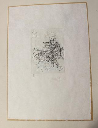 "Gravure de Salvador DALI - 1971 ""Richard III - SHAKESPEARE"""