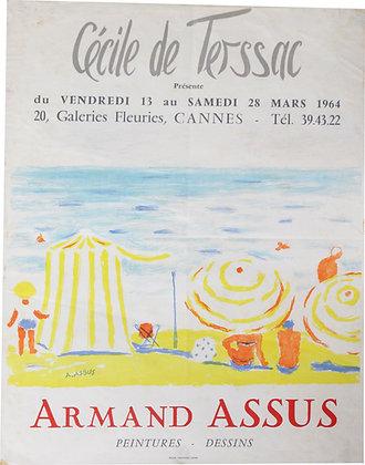 Affiche EXPO - Armand ASSUS - Peintures Dessins - 1964