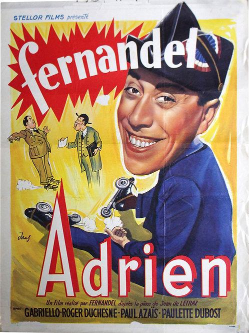 """Affiche Belge """"ADRIEN"""" Fernandel Film de 1943"""