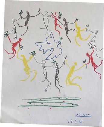 """PICASSO """"La ronde des enfants"""" Lithographie - 1961"""