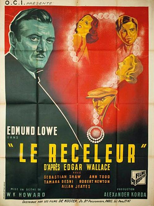 """Affiche """"Le receleur"""" Edmund LOWE - 1937"""