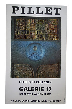 Affiche Expo PILLET - reliefs et collages - 1979