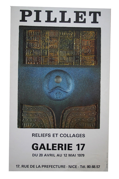 Affiche Expo PILLET - reliefs et collages - 1979