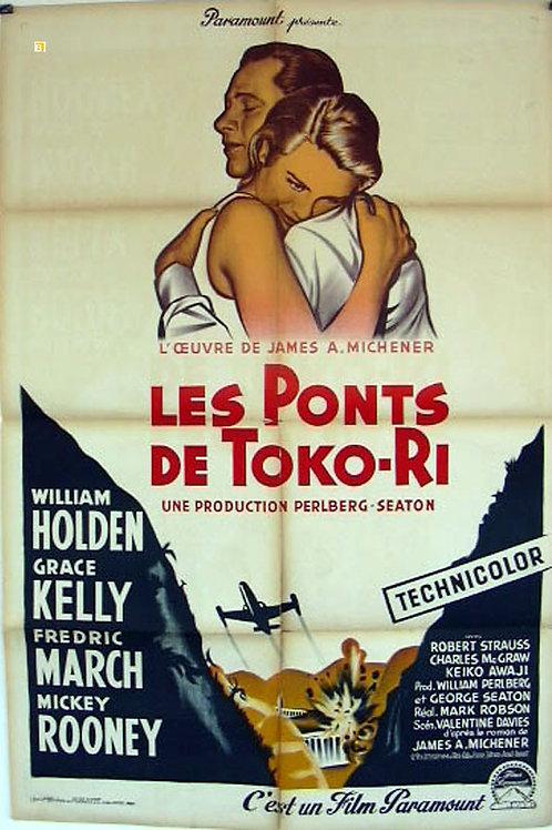 """Affiche """"LES PONTS DE TOKO-RI"""" - 1954"""