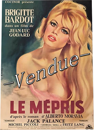 Affiche Originale Le MEPRIS BARDOT GODARD 1963