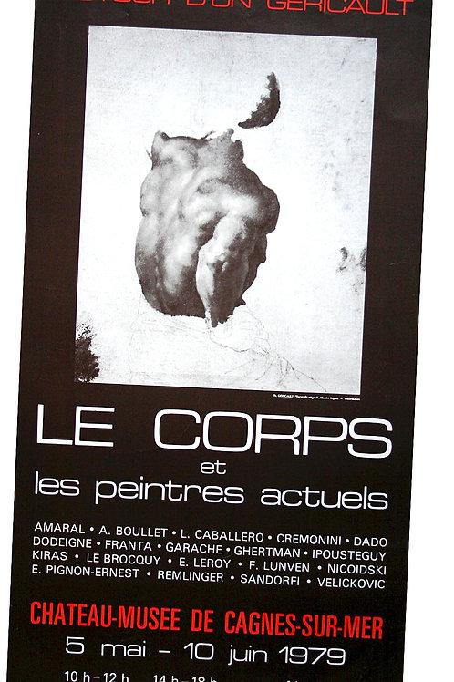 """Affiche EXPO - """"Autour d'un GERIVCAULT..."""" Le CORPS - 1979"""