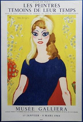 """Affiche Van Dongen """"Brigitte Bardot"""" Mourlot 1964"""