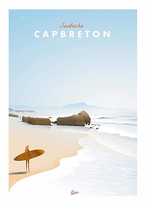 "Affiche Clavé Illustration ""CAPBRETON"""