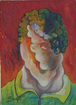 Huile sur Toile de Saulo MERCADER - TESTA 1992