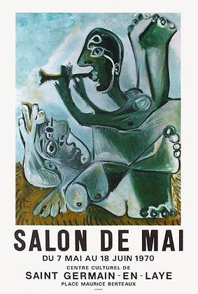 "Affiche PICASSO ""Salon de Mai 1970"