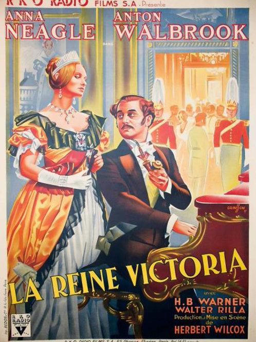 Affich cinema - La Reine Victoria par GRINSSON 1937