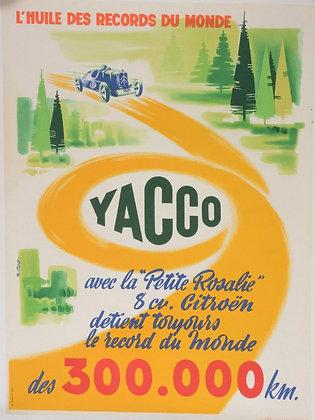 """Affiche Originale """"Yacco, La petite Rosalie Citroën"""" c.1950"""