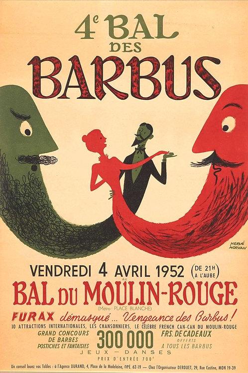 Affiche Originale de Hervé Morvan 1952