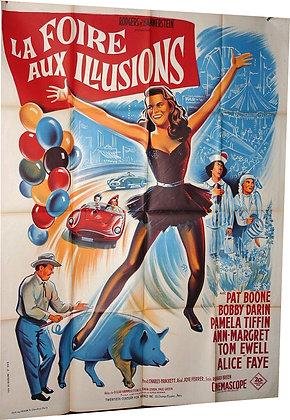 AFFICHE CINEMA 1962 LA FOIRE AUX ILLUSIONS Ann Margret Bobby DARIN Pat BOONE