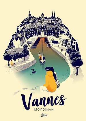 """Affiche CLAVE Illustration """"Vannes"""""""