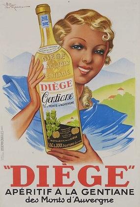 Affiche par LEMONNIER -  Apéritif DIEGE - c.1935