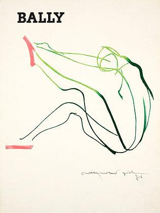 Affiche Bally Design de Raymond GID 1976