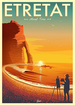 "Affiche CLAVE Illustration ""ETRETAT"""