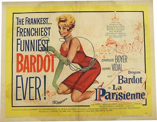 "Affiche USA ""La Parisienne"" Brigitte BARDOT - 1958"