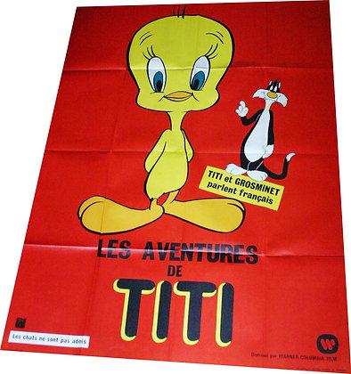 """Affiche """"Les aventures de Titi"""" - c.1978"""