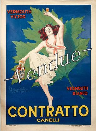 """Affiche Originale de CAPPIELLO """"Contratto"""" 1925"""
