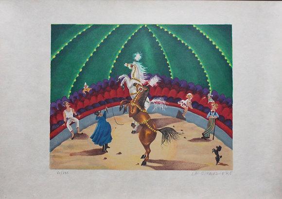 "Mady de la Giraudiere - Lithographie ""Le cirque"""