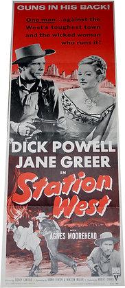 Original USA Poster cinéma - Station West - 1954