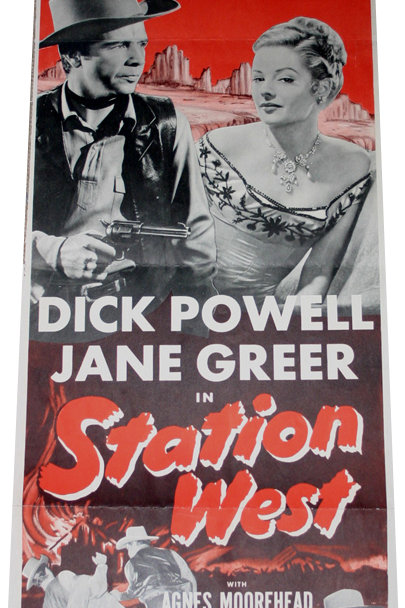 Original USA Poster cinéma - Station West - 1954