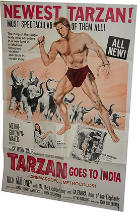 "Affiche USA ""Tarzan Goes to India"" - 1962"