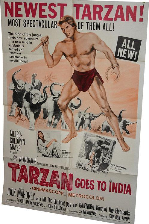 "Affiche USA ""Tarzan Goes to India"" - 1962"