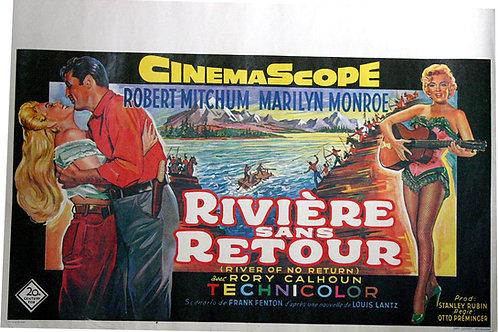 Affiche Belge LA RIVIERE SANS RETOUR - Marilyn MONROE Robert MITCHUM 1954 RE