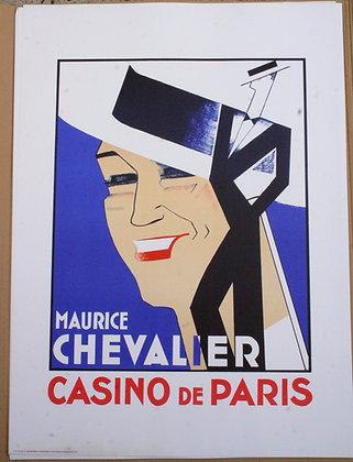Affiche litho d'après Charles KIFFER - Maurice CHEVALIER Casino de Paris