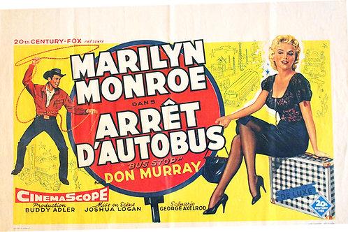 """Affiche film """"ARRET D'AUTOBUS"""" Marilyn MONROE RE1956"""