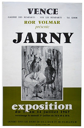 AFFICHE EXPOSITION JARNY Ror VOLMAR 1967