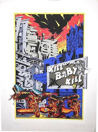 """SERIGRAPHIE de BENITO """" Kill Baby Kill """" 1983"""