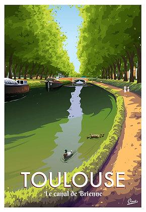 Affiche CLAVE - TOULOUSE Canal de Brienne