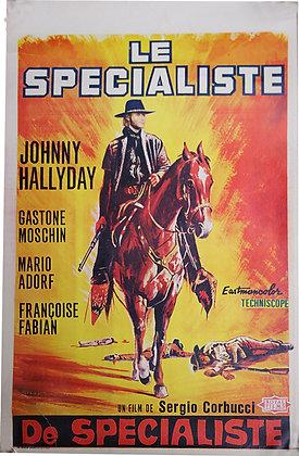 "Affiche BE Western ""Le spécialiste"" HALLYDAY - 1970"