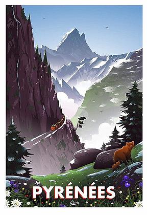 Affiche CLAVE Illustration : PYRENEES