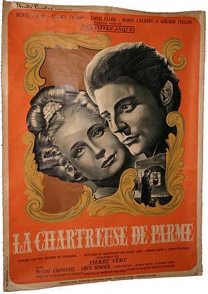 """Affiche Film """"La chartreuse de Parme"""" Gerard Philippe 1948"""