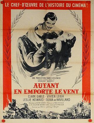 """Affiche """"Autant en emporte le vent"""" - 1939 - RE c.1950"""