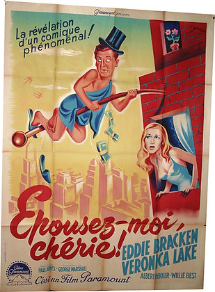 Affiche Film EPOUSE MOI CHERIE par GRINSSON 1945