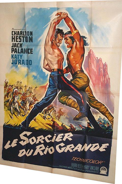 """Affiche """"Le sorcier de Rio Grande"""" par SOUBIE - 1953"""