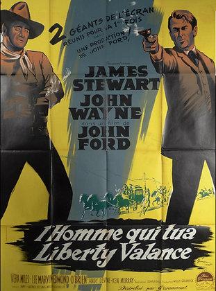 "Affiche Western ""L'homme qui tua Liberty Valance"" - 1962"